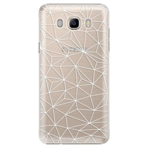Plastové pouzdro iSaprio – Abstract Triangles 03 – white – Samsung Galaxy J7 2016 Plastové pouzdro iSaprio – Abstract Triangles 03 – white – Samsung Galaxy J7 2016