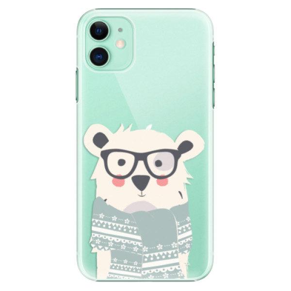 Plastové pouzdro iSaprio – Bear with Scarf – iPhone 11 Plastové pouzdro iSaprio – Bear with Scarf – iPhone 11