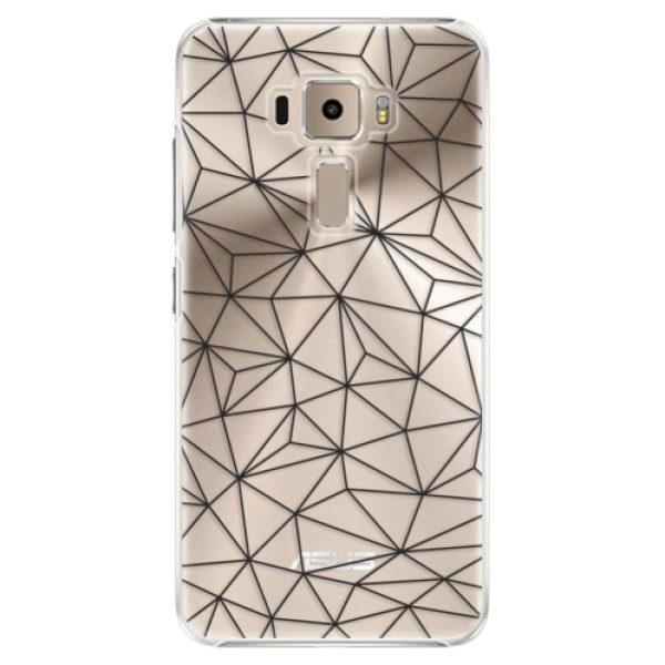 Plastové pouzdro iSaprio – Abstract Triangles 03 – black – Asus ZenFone 3 ZE520KL Plastové pouzdro iSaprio – Abstract Triangles 03 – black – Asus ZenFone 3 ZE520KL