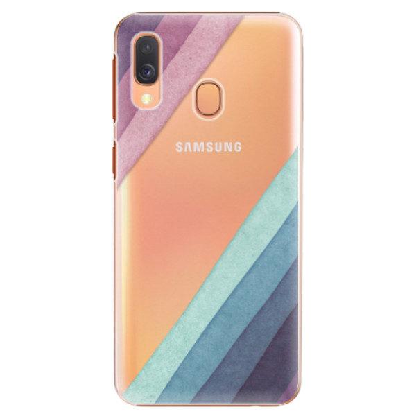Plastové pouzdro iSaprio – Glitter Stripes 01 – Samsung Galaxy A40 Plastové pouzdro iSaprio – Glitter Stripes 01 – Samsung Galaxy A40