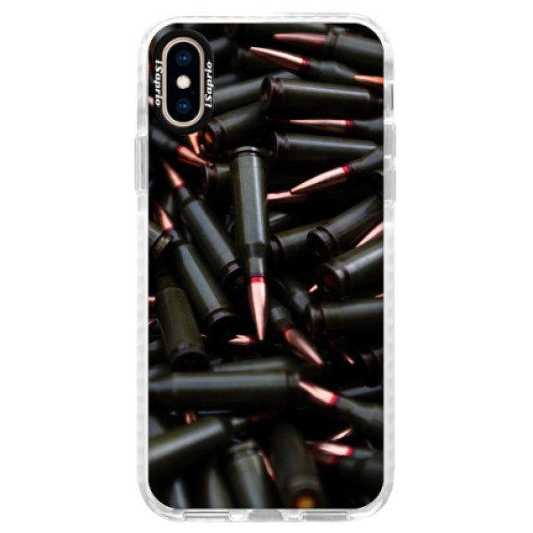 Silikonové pouzdro Bumper iSaprio – Black Bullet – iPhone XS Silikonové pouzdro Bumper iSaprio – Black Bullet – iPhone XS