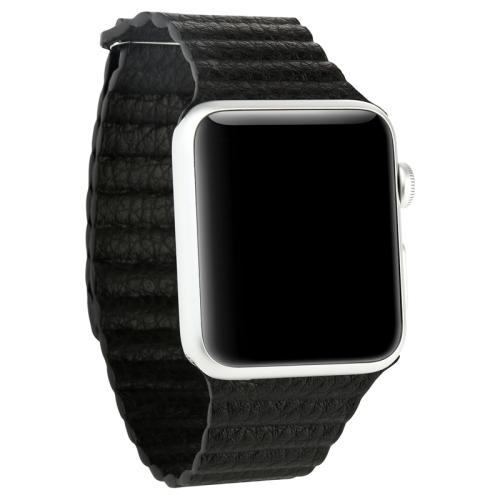 Pásek / řemínek iSaprio Magnetic Leather pro Apple Watch 42mm černý Pásek / řemínek iSaprio Magnetic Leather pro Apple Watch 42mm černý