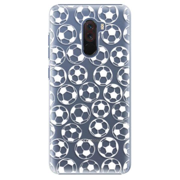 Plastové pouzdro iSaprio – Football pattern – white – Xiaomi Pocophone F1 Plastové pouzdro iSaprio – Football pattern – white – Xiaomi Pocophone F1