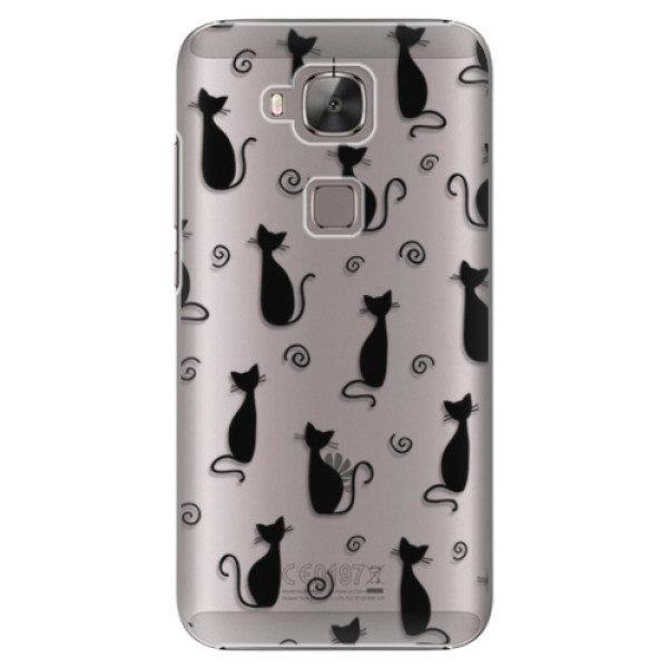 Plastové pouzdro iSaprio – Cat pattern 05 – black – Huawei Ascend G8 Plastové pouzdro iSaprio – Cat pattern 05 – black – Huawei Ascend G8