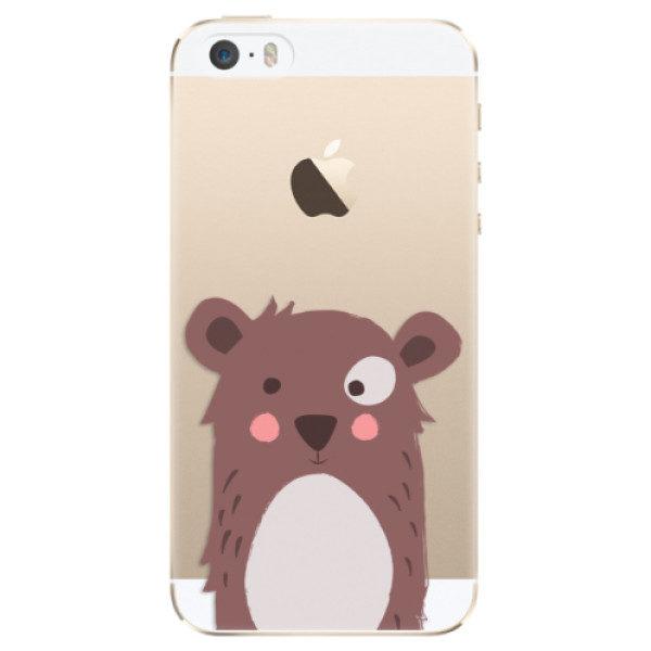Plastové pouzdro iSaprio – Brown Bear – iPhone 5/5S/SE Plastové pouzdro iSaprio – Brown Bear – iPhone 5/5S/SE