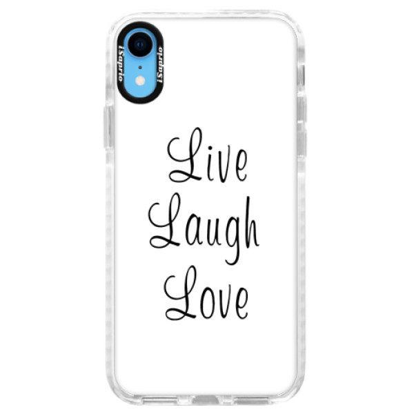 Silikonové pouzdro Bumper iSaprio – Live Laugh Love – iPhone XR Silikonové pouzdro Bumper iSaprio – Live Laugh Love – iPhone XR