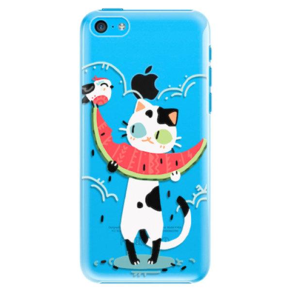 Plastové pouzdro iSaprio – Cat with melon – iPhone 5C Plastové pouzdro iSaprio – Cat with melon – iPhone 5C