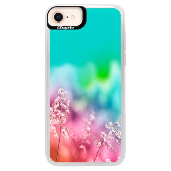 Neonové pouzdro Blue iSaprio – Rainbow Grass – iPhone 8 Neonové pouzdro Blue iSaprio – Rainbow Grass – iPhone 8