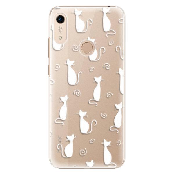 Plastové pouzdro iSaprio – Cat pattern 05 – white – Huawei Honor 8A Plastové pouzdro iSaprio – Cat pattern 05 – white – Huawei Honor 8A