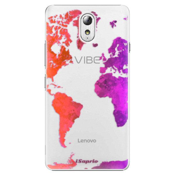 Plastové pouzdro iSaprio – Warm Map – Lenovo P1m Plastové pouzdro iSaprio – Warm Map – Lenovo P1m