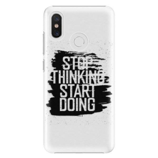 Plastové pouzdro iSaprio – Start Doing – black – Xiaomi Mi 8 Plastové pouzdro iSaprio – Start Doing – black – Xiaomi Mi 8