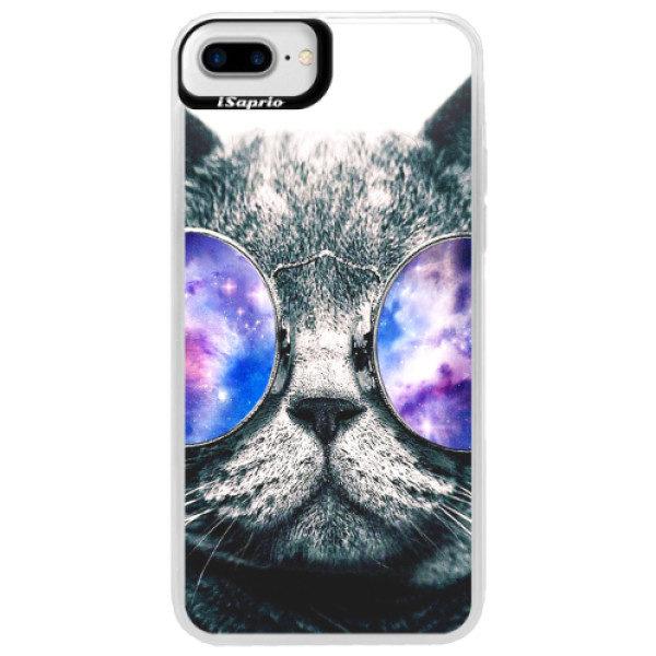 Neonové pouzdro Blue iSaprio – Galaxy Cat – iPhone 7 Plus Neonové pouzdro Blue iSaprio – Galaxy Cat – iPhone 7 Plus