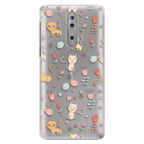 Plastové pouzdro iSaprio – Cat pattern 02 – Nokia 8 Plastové pouzdro iSaprio – Cat pattern 02 – Nokia 8