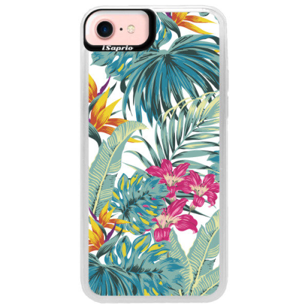 Neonové pouzdro Pink iSaprio – Tropical White 03 – iPhone 7 Neonové pouzdro Pink iSaprio – Tropical White 03 – iPhone 7