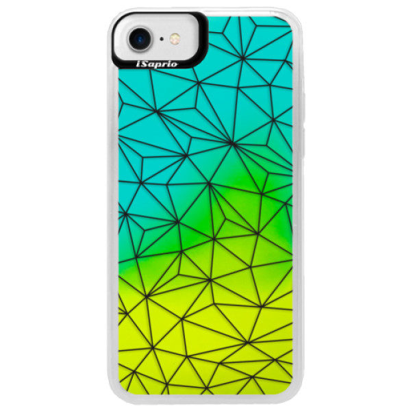 Neonové pouzdro Blue iSaprio – Abstract Triangles 03 – black – iPhone 7 Neonové pouzdro Blue iSaprio – Abstract Triangles 03 – black – iPhone 7