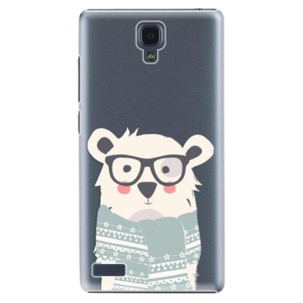 Plastové pouzdro iSaprio – Bear with Scarf – Xiaomi Redmi Note Plastové pouzdro iSaprio – Bear with Scarf – Xiaomi Redmi Note