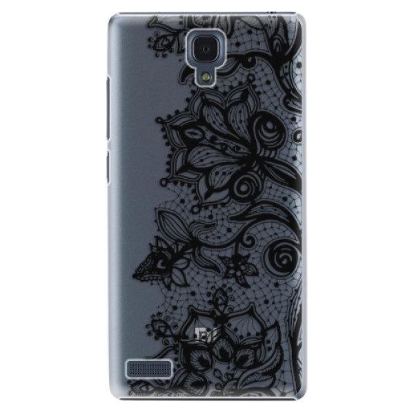 Plastové pouzdro iSaprio – Black Lace – Xiaomi Redmi Note Plastové pouzdro iSaprio – Black Lace – Xiaomi Redmi Note