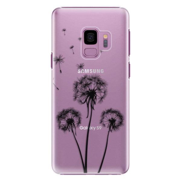 Plastové pouzdro iSaprio – Three Dandelions – black – Samsung Galaxy S9 Plastové pouzdro iSaprio – Three Dandelions – black – Samsung Galaxy S9
