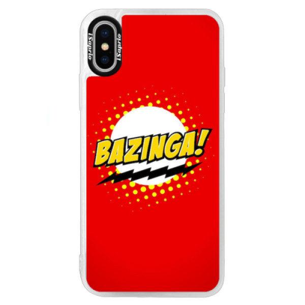 Neonové pouzdro Blue iSaprio – Bazinga 01 – iPhone XS Neonové pouzdro Blue iSaprio – Bazinga 01 – iPhone XS