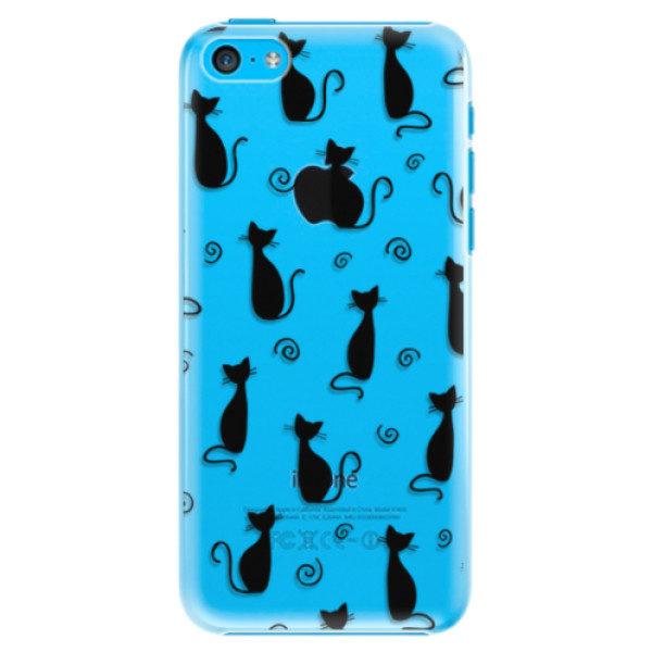 Plastové pouzdro iSaprio – Cat pattern 05 – black – iPhone 5C Plastové pouzdro iSaprio – Cat pattern 05 – black – iPhone 5C