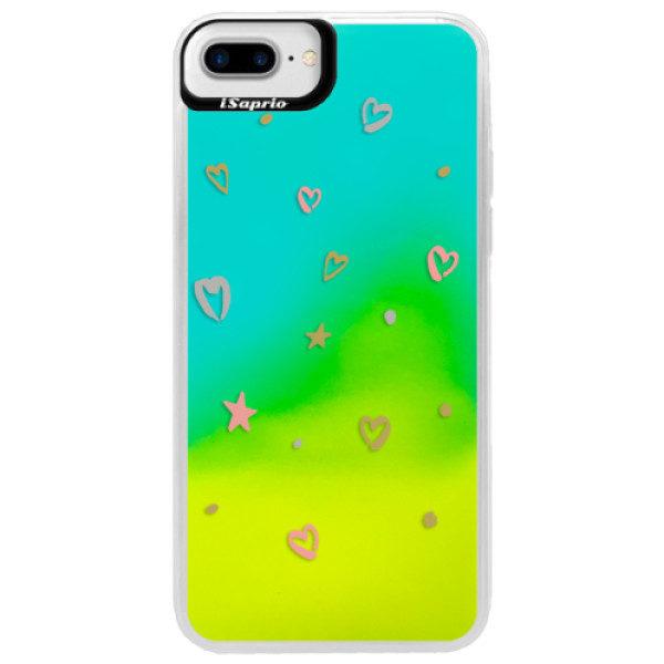 Neonové pouzdro Blue iSaprio – Lovely Pattern – iPhone 7 Plus Neonové pouzdro Blue iSaprio – Lovely Pattern – iPhone 7 Plus