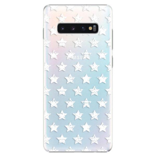 Plastové pouzdro iSaprio – Stars Pattern – white – Samsung Galaxy S10+ Plastové pouzdro iSaprio – Stars Pattern – white – Samsung Galaxy S10+
