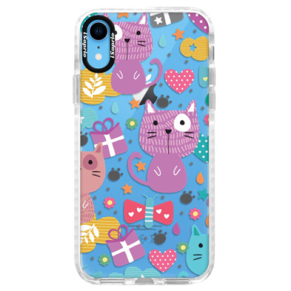 Silikonové pouzdro Bumper iSaprio – Cat pattern 01 – iPhone XR Silikonové pouzdro Bumper iSaprio – Cat pattern 01 – iPhone XR