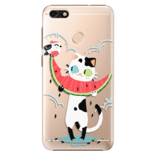Plastové pouzdro iSaprio – Cat with melon – Huawei P9 Lite Mini Plastové pouzdro iSaprio – Cat with melon – Huawei P9 Lite Mini