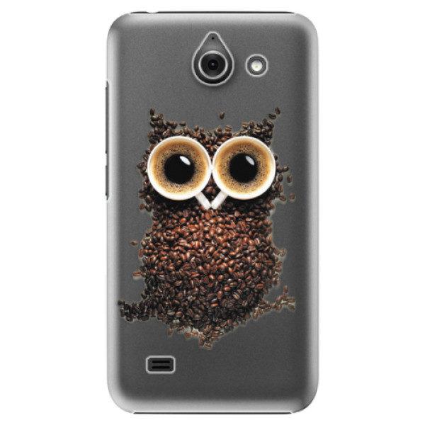 Plastové pouzdro iSaprio – Owl And Coffee – Huawei Ascend Y550 Plastové pouzdro iSaprio – Owl And Coffee – Huawei Ascend Y550