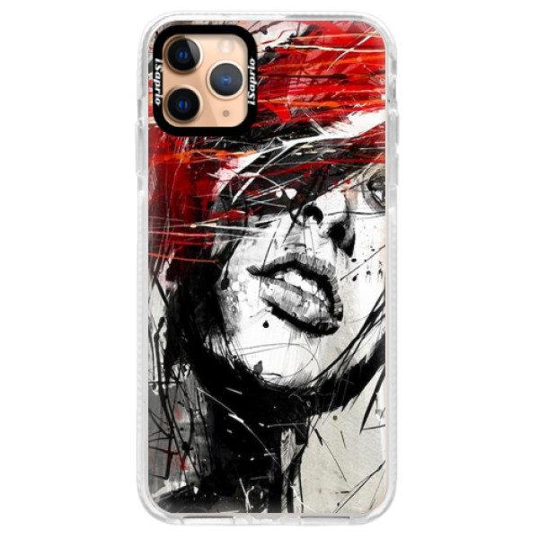 Silikonové pouzdro Bumper iSaprio – Sketch Face – iPhone 11 Pro Max Silikonové pouzdro Bumper iSaprio – Sketch Face – iPhone 11 Pro Max