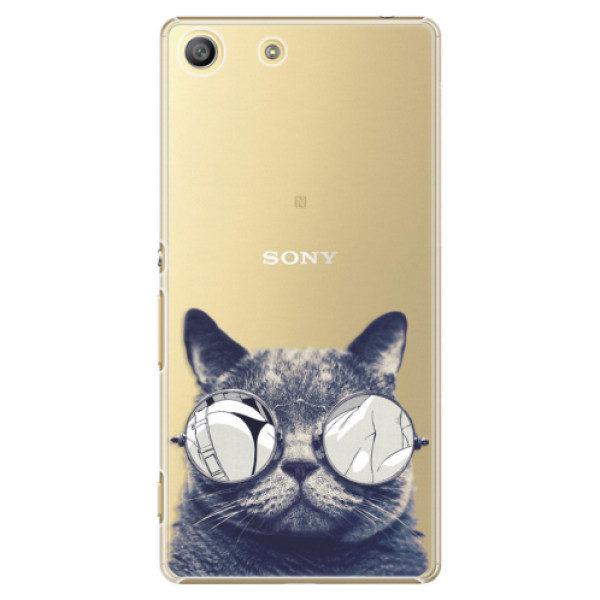 Plastové pouzdro iSaprio – Crazy Cat 01 – Sony Xperia M5 Plastové pouzdro iSaprio – Crazy Cat 01 – Sony Xperia M5