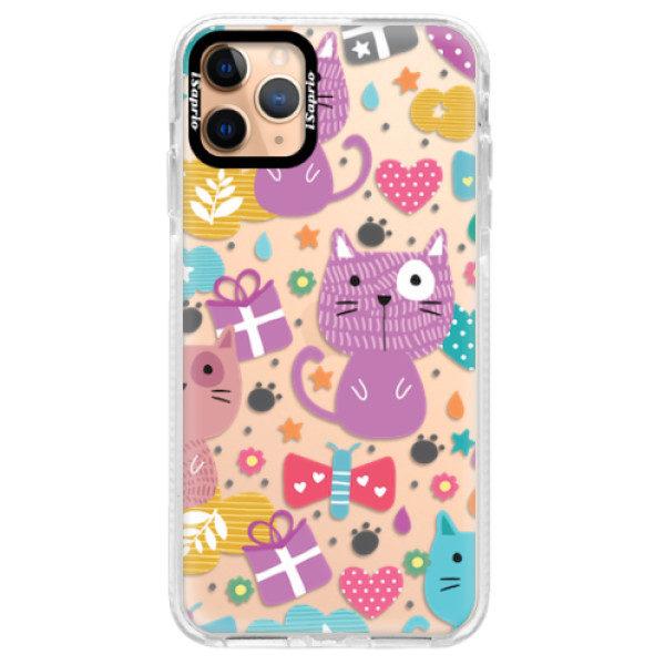 Silikonové pouzdro Bumper iSaprio – Cat pattern 01 – iPhone 11 Pro Max Silikonové pouzdro Bumper iSaprio – Cat pattern 01 – iPhone 11 Pro Max