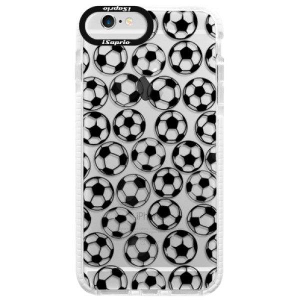 Silikonové pouzdro Bumper iSaprio – Football pattern – black – iPhone 6 Plus/6S Plus Silikonové pouzdro Bumper iSaprio – Football pattern – black – iPhone 6 Plus/6S Plus