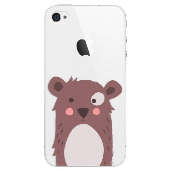 Plastové pouzdro iSaprio – Brown Bear – iPhone 4/4S Plastové pouzdro iSaprio – Brown Bear – iPhone 4/4S