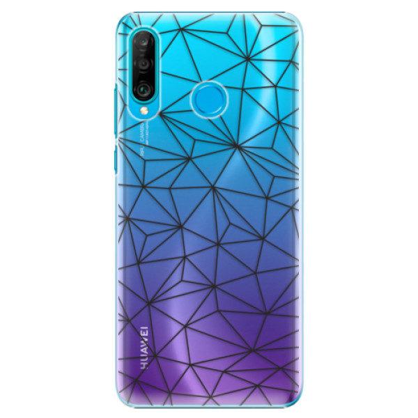 Plastové pouzdro iSaprio – Abstract Triangles 03 – black – Huawei P30 Lite Plastové pouzdro iSaprio – Abstract Triangles 03 – black – Huawei P30 Lite