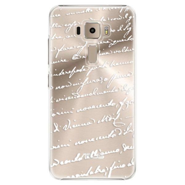 Plastové pouzdro iSaprio – Handwriting 01 – white – Asus ZenFone 3 ZE520KL Plastové pouzdro iSaprio – Handwriting 01 – white – Asus ZenFone 3 ZE520KL