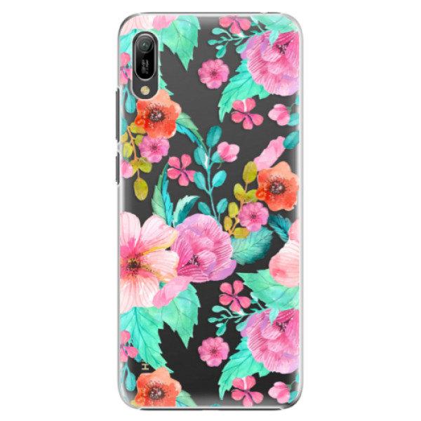Plastové pouzdro iSaprio – Flower Pattern 01 – Huawei Y6 2019 Plastové pouzdro iSaprio – Flower Pattern 01 – Huawei Y6 2019