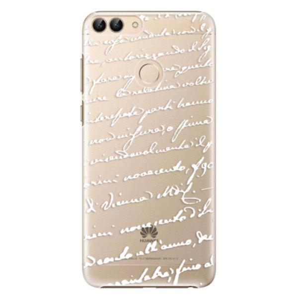 Plastové pouzdro iSaprio – Handwriting 01 – white – Huawei P Smart Plastové pouzdro iSaprio – Handwriting 01 – white – Huawei P Smart