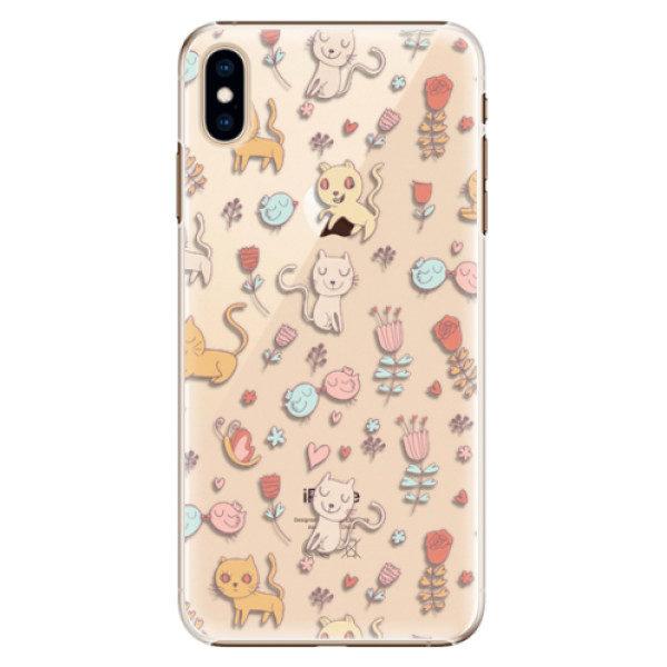 Plastové pouzdro iSaprio – Cat pattern 02 – iPhone XS Max Plastové pouzdro iSaprio – Cat pattern 02 – iPhone XS Max