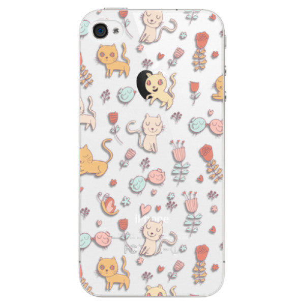 Plastové pouzdro iSaprio – Cat pattern 02 – iPhone 4/4S Plastové pouzdro iSaprio – Cat pattern 02 – iPhone 4/4S