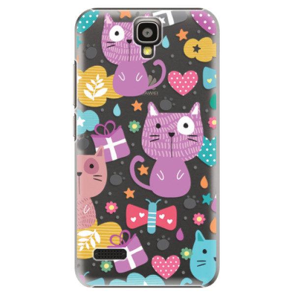 Plastové pouzdro iSaprio – Cat pattern 01 – Huawei Ascend Y5 Plastové pouzdro iSaprio – Cat pattern 01 – Huawei Ascend Y5