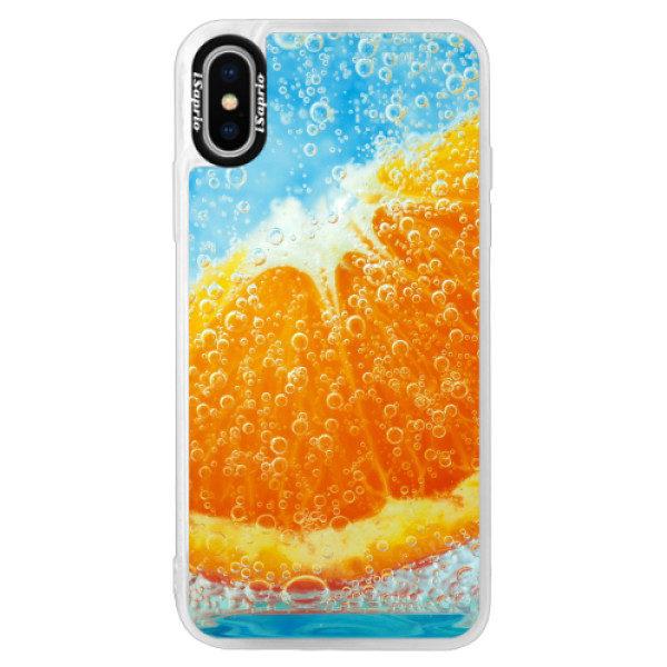 Neonové pouzdro Pink iSaprio – Orange Water – iPhone X Neonové pouzdro Pink iSaprio – Orange Water – iPhone X