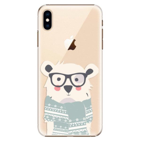 Plastové pouzdro iSaprio – Bear with Scarf – iPhone XS Max Plastové pouzdro iSaprio – Bear with Scarf – iPhone XS Max