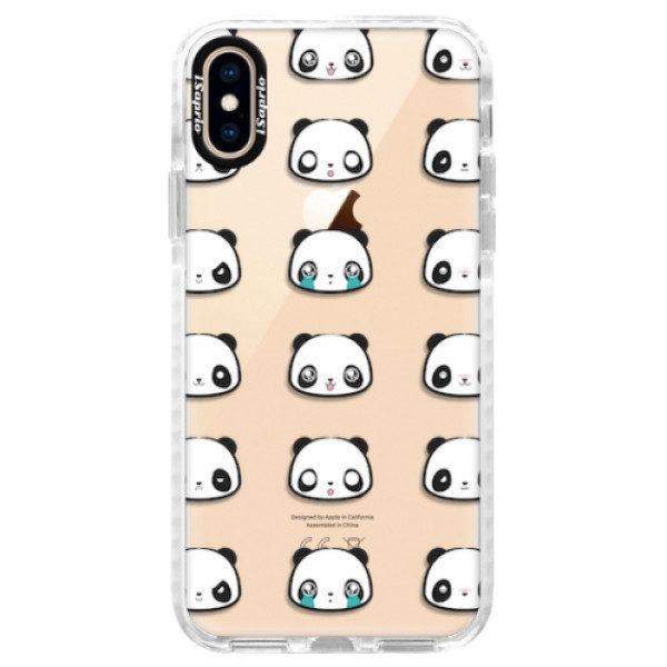 Silikonové pouzdro Bumper iSaprio – Panda pattern 01 – iPhone XS Silikonové pouzdro Bumper iSaprio – Panda pattern 01 – iPhone XS