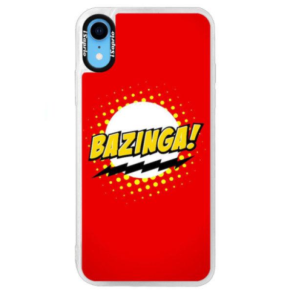 Neonové pouzdro Blue iSaprio – Bazinga 01 – iPhone XR Neonové pouzdro Blue iSaprio – Bazinga 01 – iPhone XR