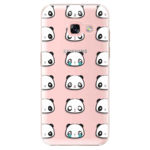 Plastové pouzdro iSaprio – Panda pattern 01 – Samsung Galaxy A3 2017 Plastové pouzdro iSaprio – Panda pattern 01 – Samsung Galaxy A3 2017