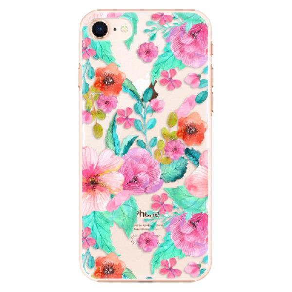 Plastové pouzdro iSaprio – Flower Pattern 01 – iPhone 8 Plastové pouzdro iSaprio – Flower Pattern 01 – iPhone 8