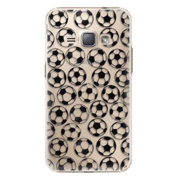 Plastové pouzdro iSaprio – Football pattern – black – Samsung Galaxy J1 2016 Plastové pouzdro iSaprio – Football pattern – black – Samsung Galaxy J1 2016