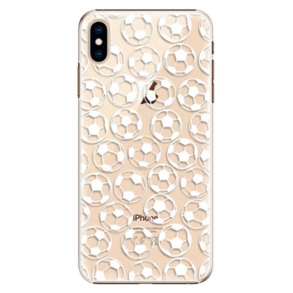 Plastové pouzdro iSaprio – Football pattern – white – iPhone XS Max Plastové pouzdro iSaprio – Football pattern – white – iPhone XS Max