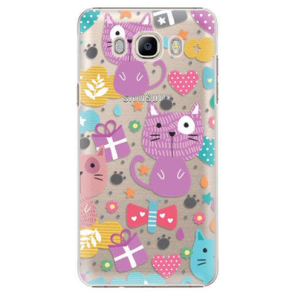 Plastové pouzdro iSaprio – Cat pattern 01 – Samsung Galaxy J7 2016 Plastové pouzdro iSaprio – Cat pattern 01 – Samsung Galaxy J7 2016